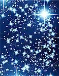 bright stars on a dark blue background