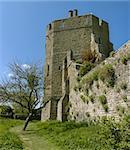 tower stone turret stokesay castle shropshire england uk