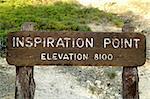 Marker in Bryce Canyon, Utah, USA