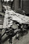 Destroyed building, a picture of a total destruction.