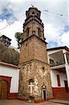 Catholic Church Tower Steeple, Janitizo Island, Patzcuaro Lake, Mexico