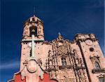 Cross, Bell, Steeple, Valencia Church, Templo de San Cayetano, Guanajuato, Mexico