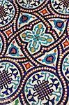 Moroccan mosaic tilework details - shallow dof