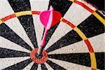 Javelin falls into centre dartboard