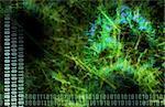 A Blue Medical Science Futuristic Technology Art