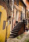 Backstreet. Old Italian City Under The Sunlight.