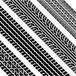 Vector tire tracks - vector illustration