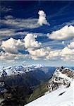 titlis snow covered mountain landscape near luzern switzerland
