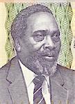 Jomo Kenyatta on 100 Shilingi 2006 Banknote from Kenya. First prime minister (1963-1964) and president (1964-1978) of Kenya.