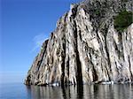 White rock on the Baikal Lake.