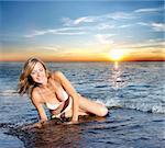 sexy woman in bikini on the beach