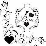 a set of floral love art design