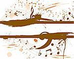 Vector musical grunge background for design use