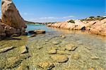 Clear water - Caprera island in Archipelago of La Maddalena. Best of Italy.