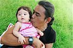 Portrait of a multi-ethnic family: Thai/American.