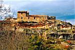 a view of Siurana, an ancient village in tarragona, spain