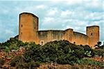a view of  Bellver Castle , Palma, Mallorca, Spain