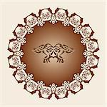 Vector decorative frame in a filigree fashion.