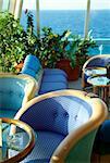 interior of the bar on a cruise ship
