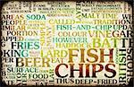 Fish and Chips British Cuisine Menu As Art