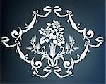 illustration drawing of beautiful white flower pattern