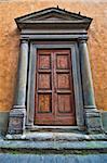 Ancient Door in a Building Facade, Pisa