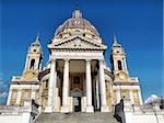 Basilica di Superga church on the Turin hill, Italy - high dynamic range HDR
