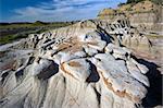 Badlands Formations in Theodore Roosevelt National Park - North Dakota