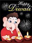 Diwali background vector illustration