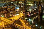 Panorama of down town Dubai city - UAE