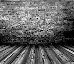 old grunge interior wooden floor