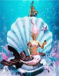a little mermaid observed a mermaid
