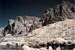 Salt river in the Arizona desert mountains