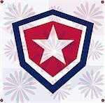 Grunge star america pattern independent day background