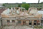 Old brick demolished building. Horisontal image