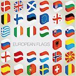 vector european country flags