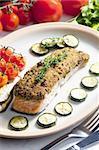 baked salmon with herbs eschar