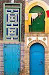 Four beauty arabic door in Morocco.