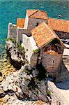 Fort in Budva, Montenegro. Summer day.