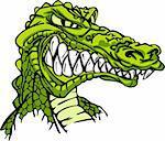 Cartoon Image of a Gator or Crocodile