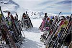 Ski Racks at Top of Whistler Mountain, Whistler, British Columbia, Canada