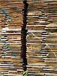 Piles de palettes