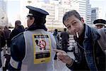 Japan, Tokyo, Shinjuku, Tokyo's tobacco police