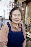 Japan, Hakone, restaurant owner