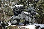 Japan, Hakone, lake Ashi, Hakone Gongen temple, statue