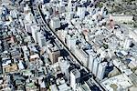 Vue aérienne de Japon, Tokyo,