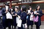 Japan, Tokyo, Asakusa, school girls