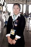 Japan, airport of Narita, stewardess