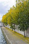 France, Paris, ile de la cité, quai de l'horloge