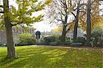 France, Paris, garden of pont neuf